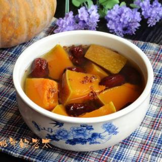桂花红枣南瓜汤
