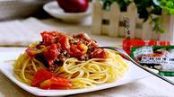 西红柿牛肉炒意面