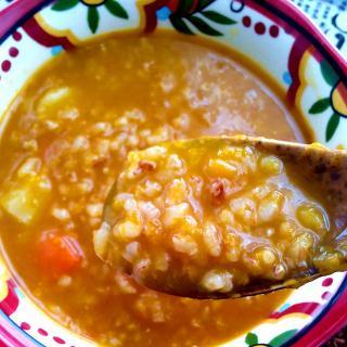 红糙米南瓜养生粥