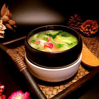 青菜龙虾泡饭粥