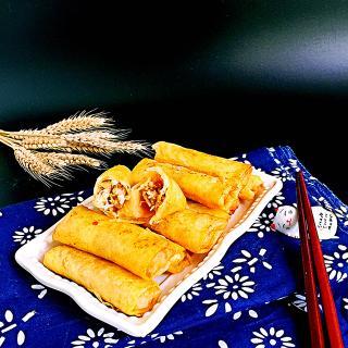 黄花菜肉春卷