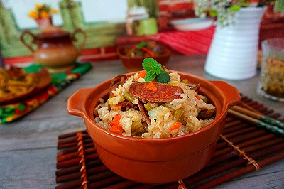 香肠土豆焖饭
