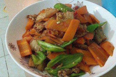 猪肉炒胡萝卜