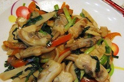 韭菜春笋炒蛏子