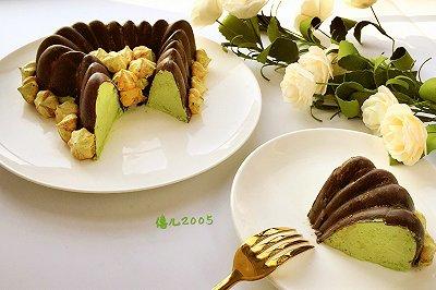 情人节必备:心形脆皮抺茶蛋糕