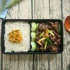 传统粤菜:耗油香菇牛肉便当