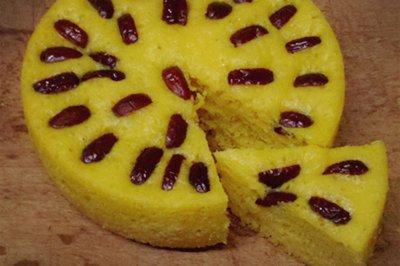 自制健康美味南瓜红枣发糕
