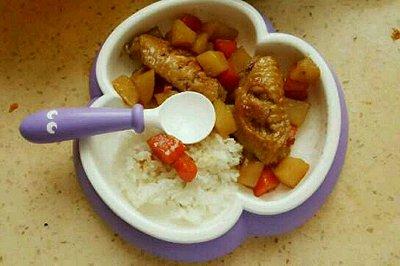 土豆胡萝卜炖鸡翅