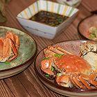 荷叶糯米蒸蟹