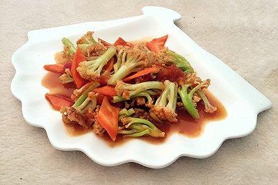西红柿炒散花菜
