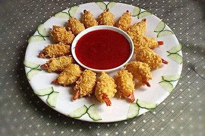 创意料理:黄金虾