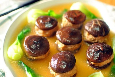 经典徽菜:香菇酿肉