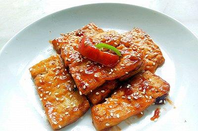开胃酸甜口煎豆腐