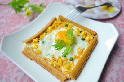 肠仔玉米煎鸡蛋