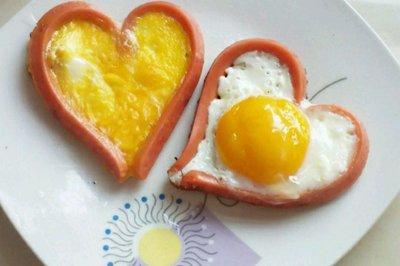 营养早餐:爱心煎鸡蛋