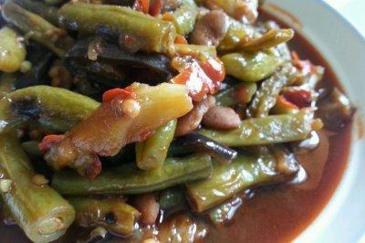 豆瓣烧豆角茄子土豆