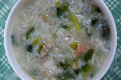 青菜瘦肉粥