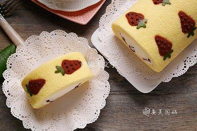 蔓越莓奶油彩绘毛巾卷
