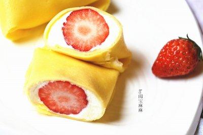 港式草莓班戟