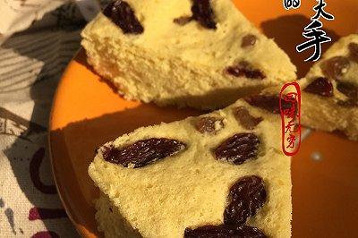葡萄干蒸蛋糕