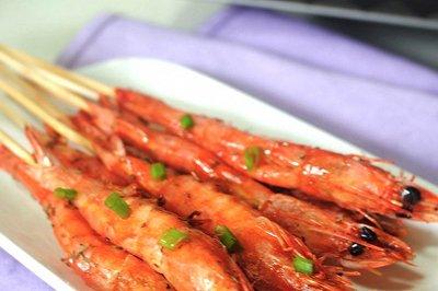 欧芹叉烧串虾