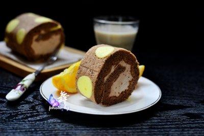 波点巧克力蛋糕卷