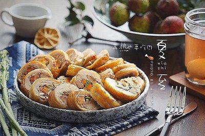 杂蔬核桃鸡肉卷