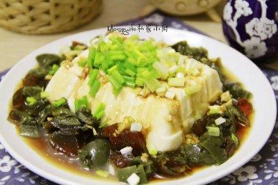 小葱皮蛋豆腐