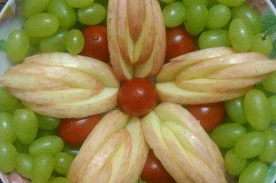 水果拼盘果绿花开