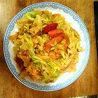 圆白菜炒饼