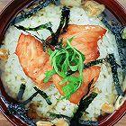 烤三文鱼茶泡饭