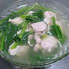 猪肉丸子菠菜汤