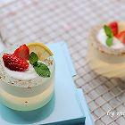 水果酸奶水晶杯