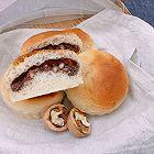 红豆核桃麻薯面包