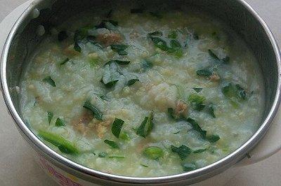 宝宝辅食:肉末青菜二米粥