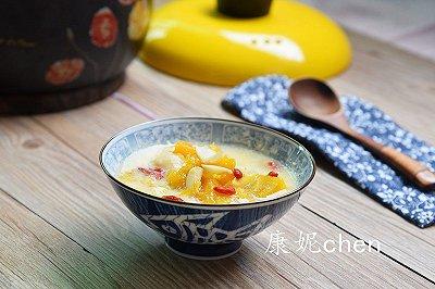 南瓜百合豆浆甜汤