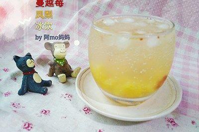 蔓越莓凤梨冰饮