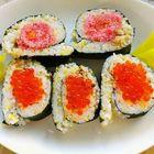 金枪鱼鱼籽寿司
