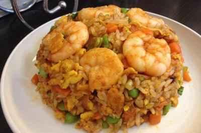 韩式虾仁蛋炒饭