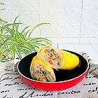 五彩米饭蛋皮卷