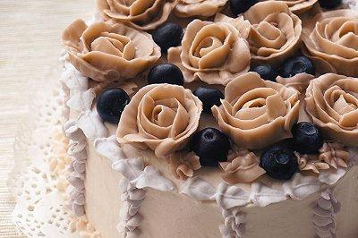 玫瑰花生日蛋糕