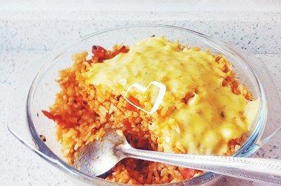 培根火腿芝士焗饭