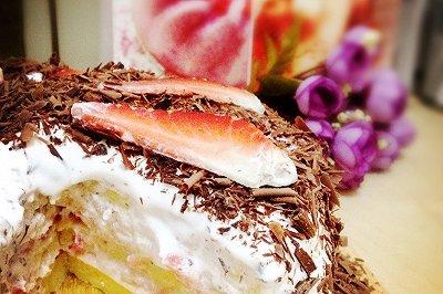 自创雪顶巧克力蛋糕(电饼铛版)