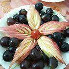 果盘装饰苹果开花