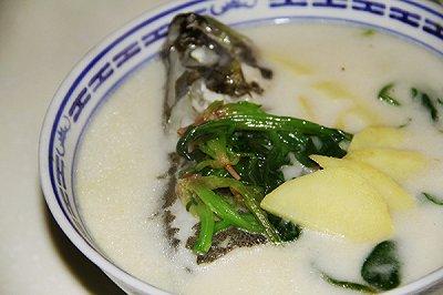 奶白桂鱼汤