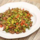 青椒毛豆炒肉丝-迷迭香