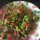 快手炒菜之毛豆胡萝卜炒牛肉片