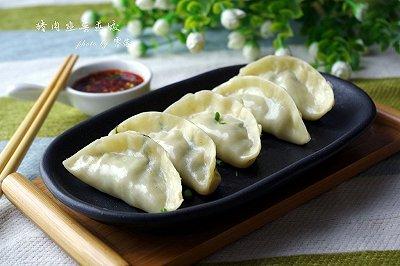 冬至猪肉韭菜蒸饺