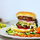 减肥增肌低脂双层牛肉汉堡