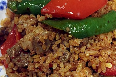 孜然羊肉炒米饭